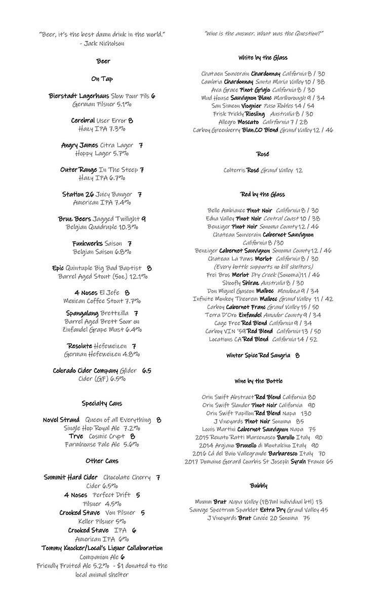 bar menu 5-6